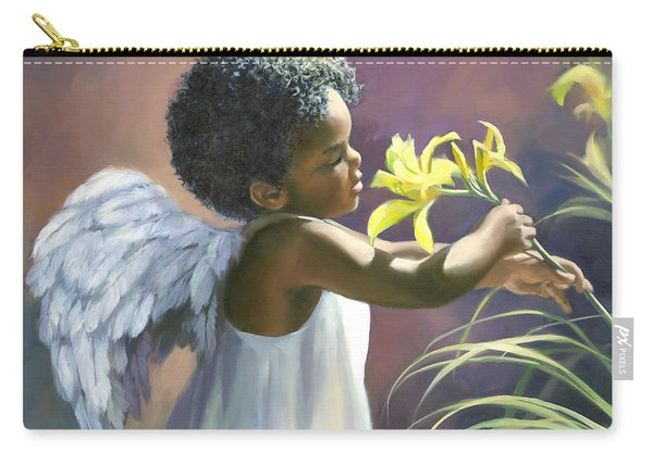 Little Black Angel Carry-all Pouch