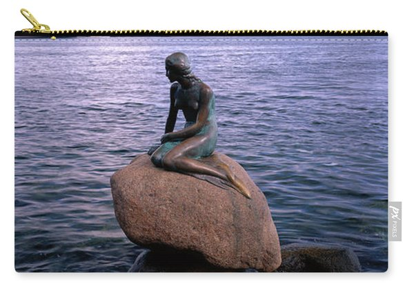 Little Mermaid Statue On Waterfront Carry-all Pouch