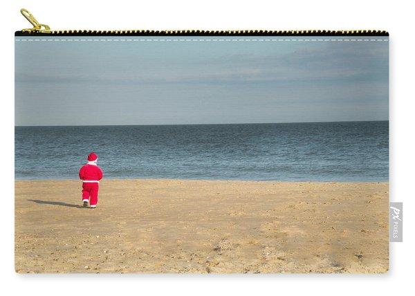 Little Santa On The Beach Carry-all Pouch