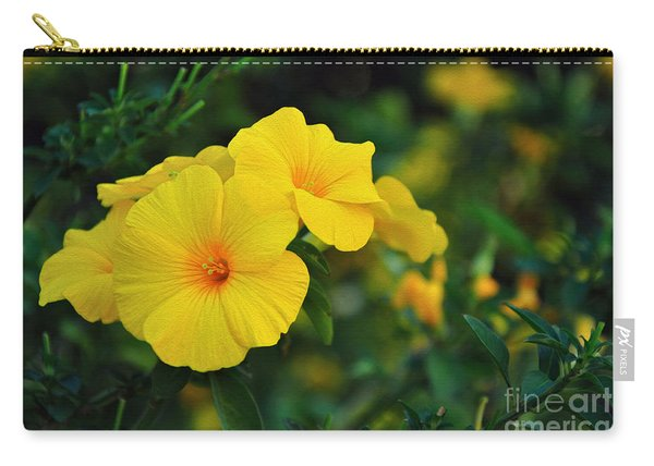 Little Yellow Trumpets Carry-all Pouch