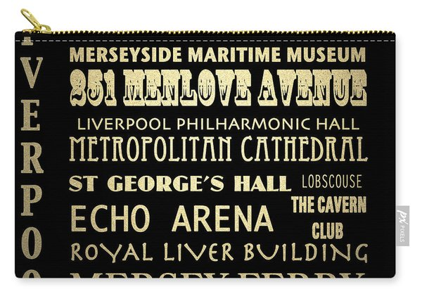 Liverpool England Famous Landmarks Carry-all Pouch