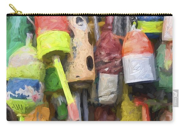 Lobster Buoys Painterly Effect Carry-all Pouch