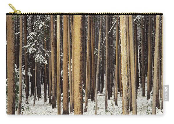Lodgepole Pines And Snow Grand Teton Carry-all Pouch
