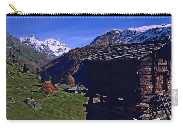 Log Cabins On A Landscape, Matterhorn Carry-all Pouch