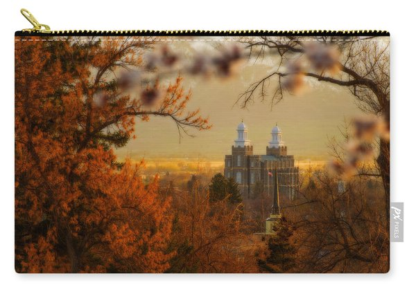 Carry-all Pouch featuring the photograph Logan Temple by Dustin  LeFevre