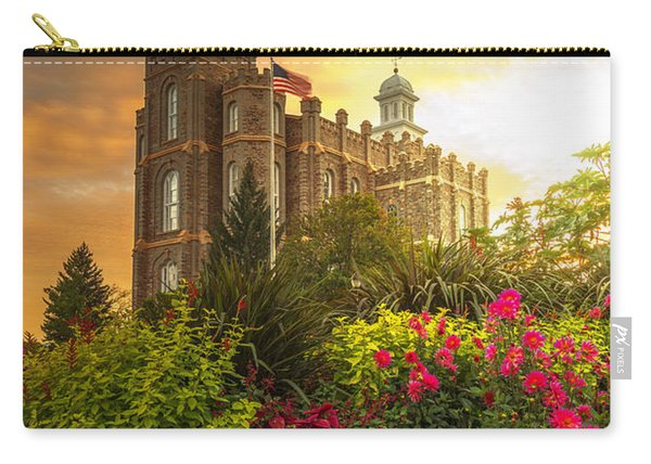 Carry-all Pouch featuring the photograph Logan Temple Garden by Dustin  LeFevre