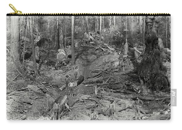 Logging A Redwood Hillside C. 1880 Carry-all Pouch