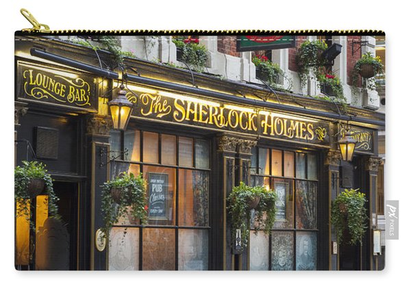 Carry-all Pouch featuring the photograph London Pub by Brian Jannsen