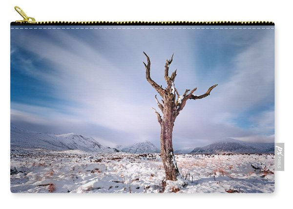 Lone Tree In The Snow Carry-all Pouch