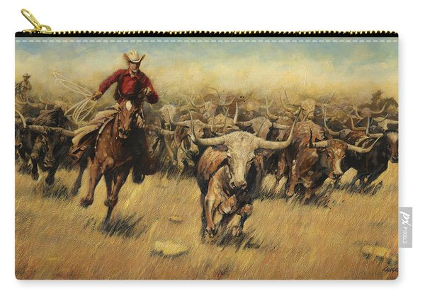 Longhorn Stampede Carry-all Pouch