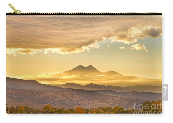 Longs Peak Autumn Sunset Carry-all Pouch