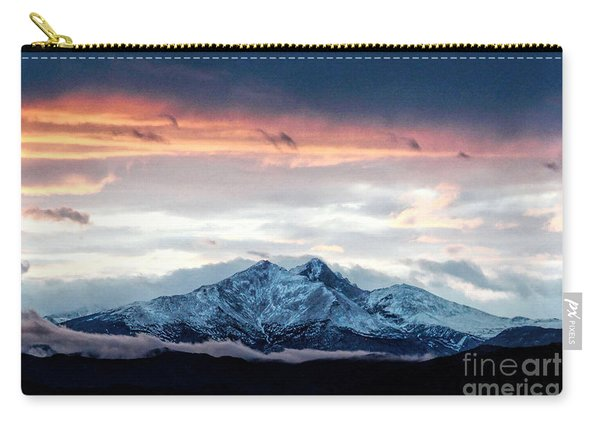 Longs Peak In Winter Carry-all Pouch
