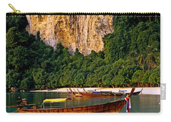 Longtail Boat In Ton Sai Bay, Phi Phi Carry-all Pouch