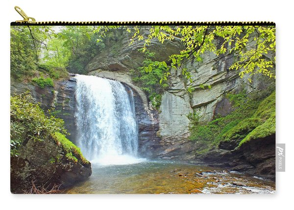 Looking Glass Waterfall In The Spring 2 Carry-all Pouch