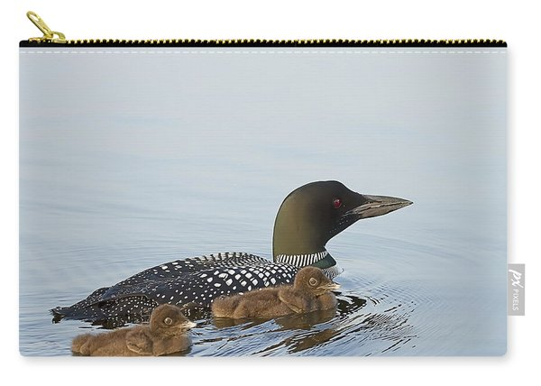 Loon Chicks Cruising With Mom Carry-all Pouch