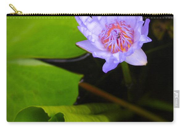 Lotus Flower And Lily Pad Carry-all Pouch