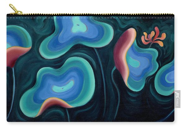 Carry-all Pouch featuring the painting Lotus Reggae by Sandi Whetzel