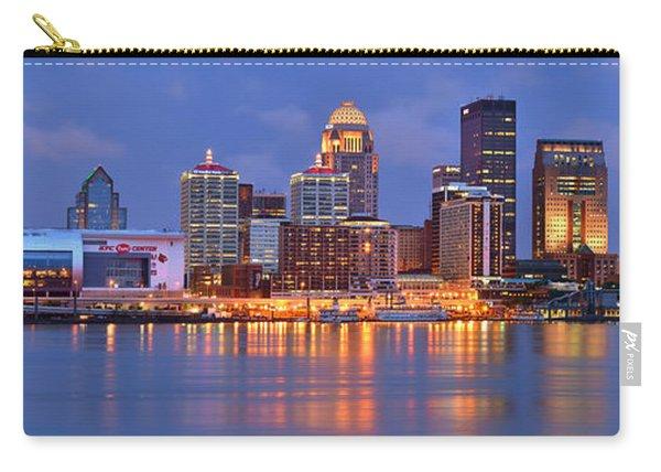 Louisville Skyline At Dusk Sunset Panorama Kentucky Carry-all Pouch