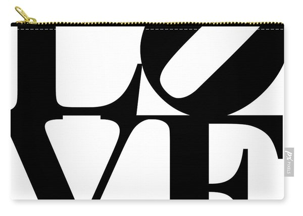 Love 20130707 Black White Carry-all Pouch