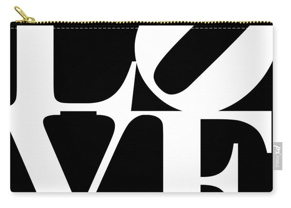 Love 20130707 White Black Carry-all Pouch