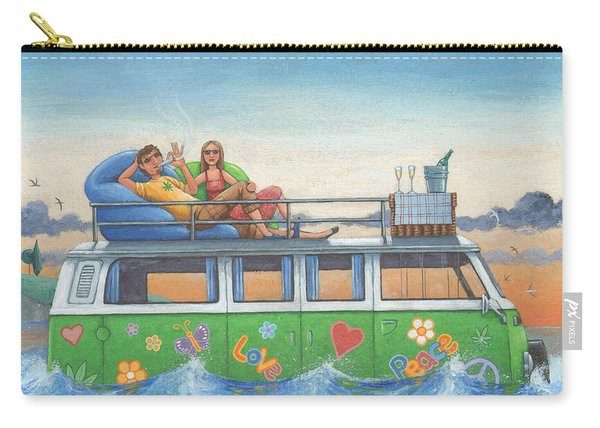 Love And Peace At Sea Carry-all Pouch