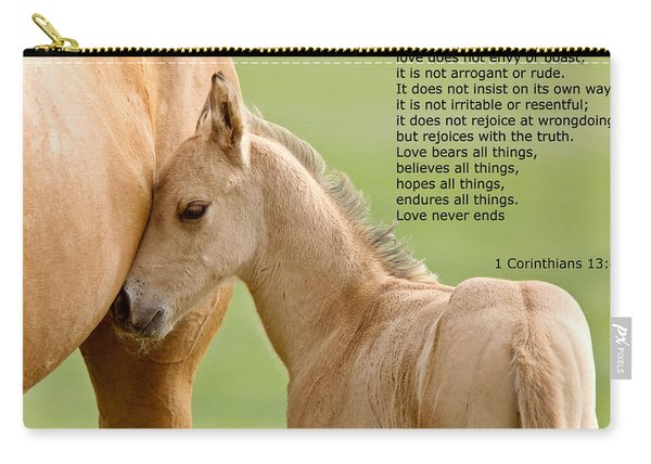 love is gentle love is kind Horse and colt Carry-all Pouch