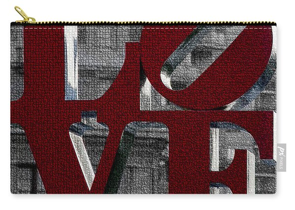 Love Philadelphia Red Mosaic Carry-all Pouch