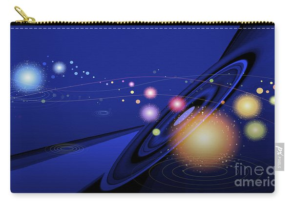 Carry-all Pouch featuring the digital art Love  Universe by Eleni Mac Synodinos