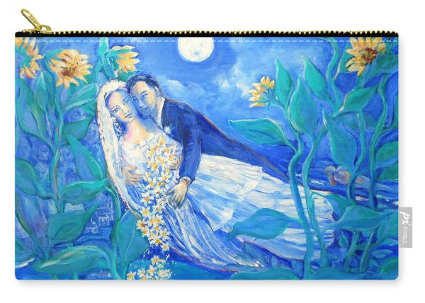 Lovers And Sunflowers  After Marc Chagall  Carry-all Pouch