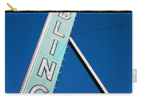 Low Angle View Of Sign Of El Cortez Carry-all Pouch