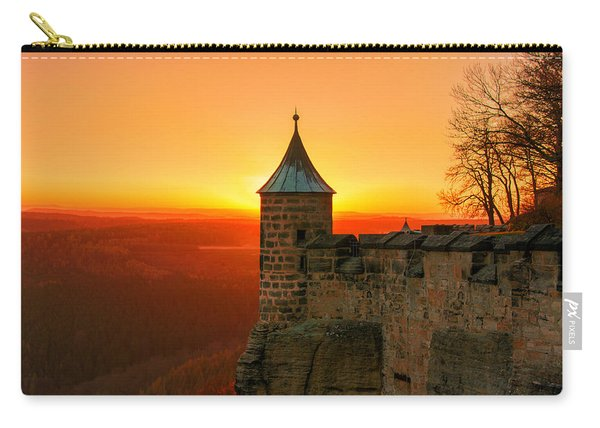 Low Sun On The Fortress Koenigstein Carry-all Pouch