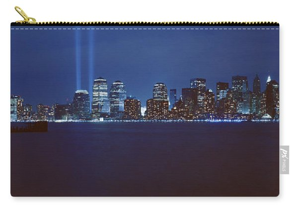 Lower Manhattan, Beams Of Light, Nyc Carry-all Pouch