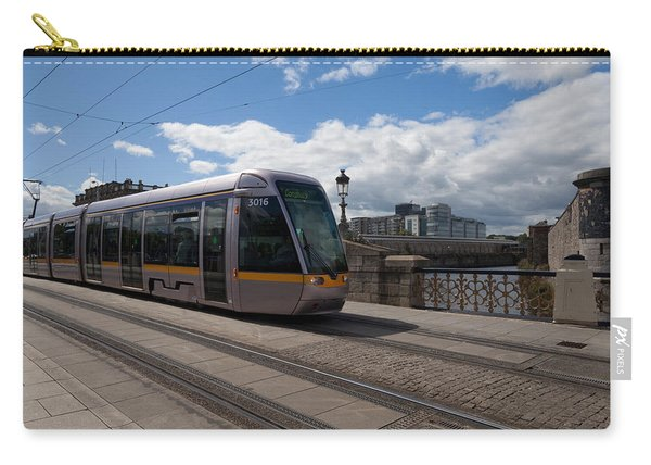 Luas Tram On The Sean Heuston Bridge Carry-all Pouch