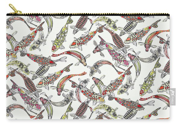 Lucky Koi Off White Carry-all Pouch