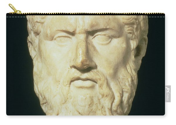 Luna Marble Head Of Plato, Roman, 1st Carry-all Pouch