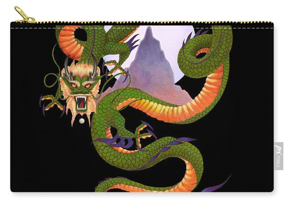 Lunar Chinese Dragon On Black Carry-all Pouch