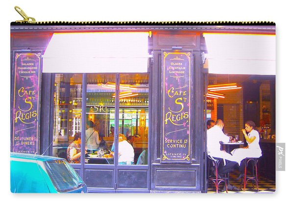 Lunch Time At The Cafe St Regis In Paris Carry-all Pouch