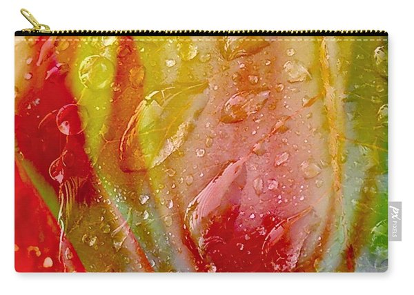 Luscious Tulips - Waterdrops Series Carry-all Pouch