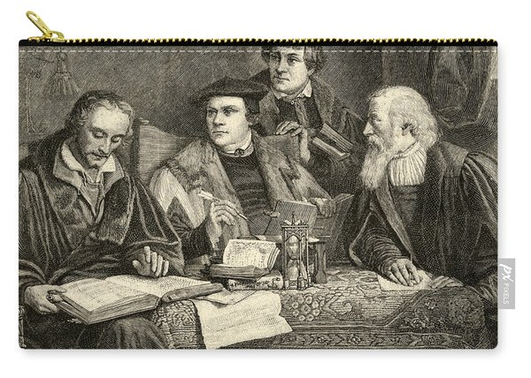 Luther Melancthon Pomeranus And Cruciger Translating  Carry-all Pouch