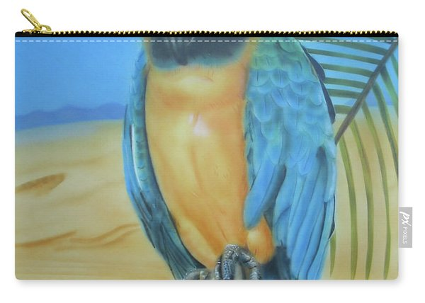 Macaw On A Limb Carry-all Pouch