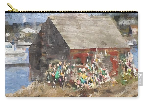 Mackerel Cove Maine Painterly Effect Carry-all Pouch