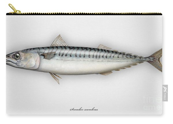 Mackerel Scomber Scombrus  - Maquereau - Caballa - Sarda - Scombro - Makrilli - Seafood Art Carry-all Pouch