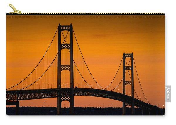 Mackinac Bridge Sunset Carry-all Pouch