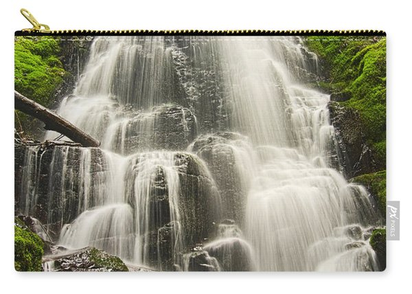 Magical Falls - Fairy Falls In The Columbia River Gorge Area Of Oregon Carry-all Pouch