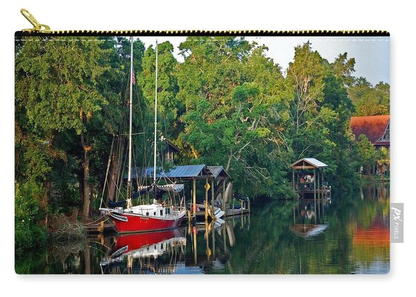 Magnolia Red Boat Carry-all Pouch