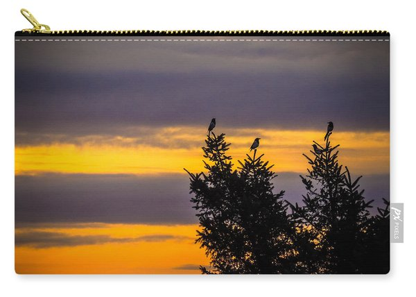 Magpies At Sunrise Carry-all Pouch