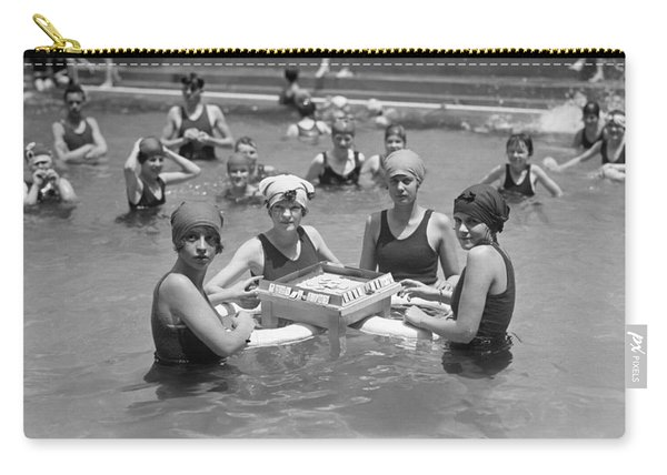 Mah-jong In The Pool Carry-all Pouch