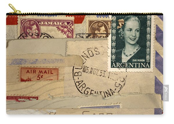 Mail Collage Eva Peron Carry-all Pouch