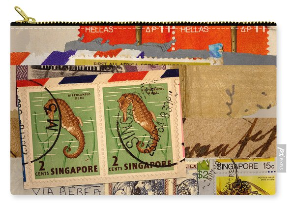 Mail Collage Singapore Seahorse Carry-all Pouch