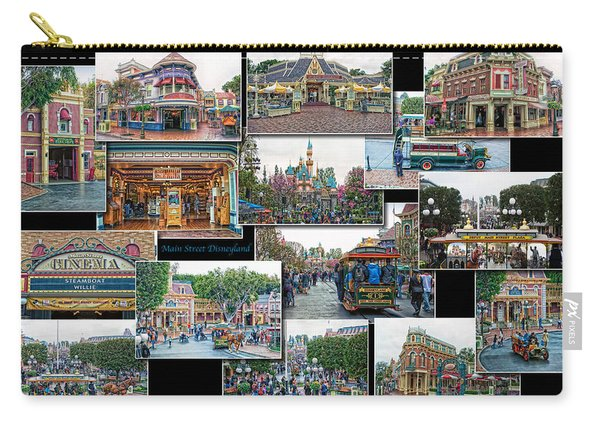 Main Street Disneyland Collage 01 Carry-all Pouch